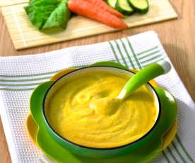 Pappa di verdure miste con pollo e cereali (7-9 mesi)