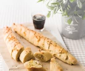 Baguetes com alho e orégãos