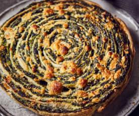 Spinat-Frischkäse-Schnecke