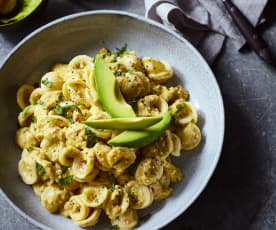 Avocado-Pesto zu Orecchiette