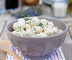 Salada de batatinhas novas