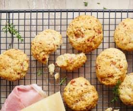 Cookies jambon, parmesan et origan
