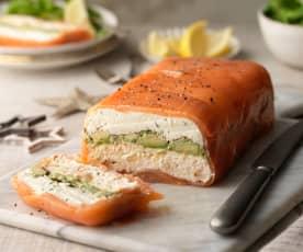 Layered Salmon and Avocado Terrine