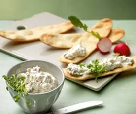 Cream cheese spread with radishes