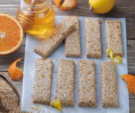 Sezamové tyčinky s medem a citrusy