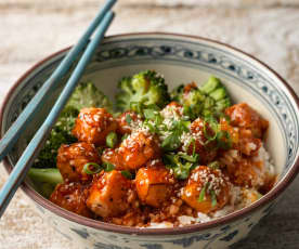Crispy Korean tofu