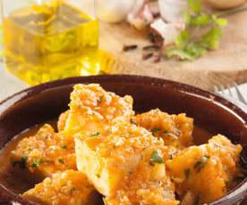 Tortilla guisada en salsa española