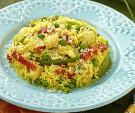 Žlutá rýže s kuřetem