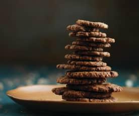 Bolachas de chocolate e amendoim