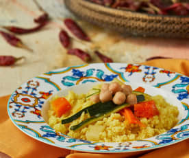 Cous cous vegetariano di Marrakech