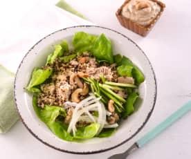 藜麥鮪魚腰果醬沙拉