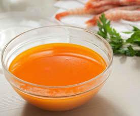 Bouillon de poisson et de crevettes