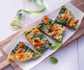 Spinat-Tomaten-Omelette