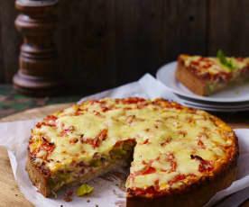 Quiche de puerro y tomate (sin gluten)