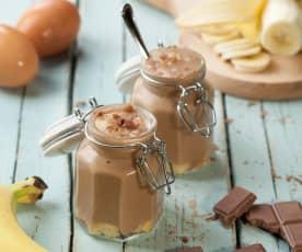 Crema al cioccolato e banana