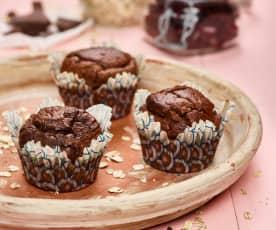 Kakaové muffiny z červených fazolí