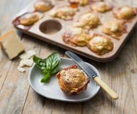 Prosciutto and sun-dried tomato muffins