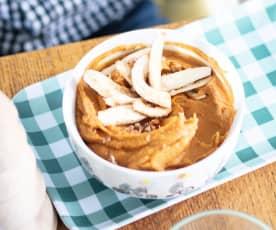 Dinde et purée de patate douce aux marrons
