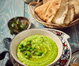 Grüne Erbsen-Hummus