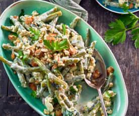 Sałatka z fasolką szparagową i serem feta