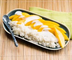 Riz gluant au lait de coco