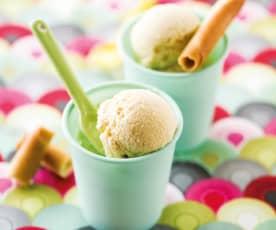 Crème glacée à l'amande sans lactose