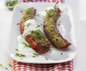 Paprika mit Kartoffelfüllung