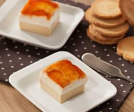 Mousse de foie y queso de cabra con manzanas caramelizadas