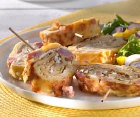Käse-Schinken-Pfannkuchen