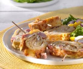 Roulé au fromage et au jambon