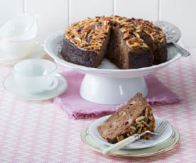 Apple and date cake