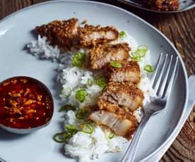 Fleisch im gerösteten Reismantel (粉蒸肉)