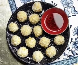 Firecracker Pearl Rice Meatballs