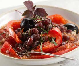 Warmer Salat mit roten Bohnen