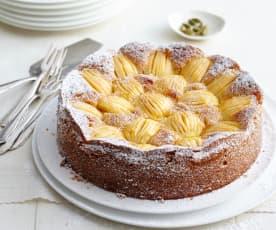 Versunkener Apfel-Zwieback-Kuchen