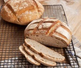 Pan de centeno con fermento natural