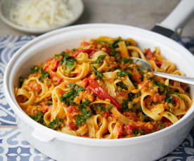 Red Lentil, Kale and Rosemary Pasta