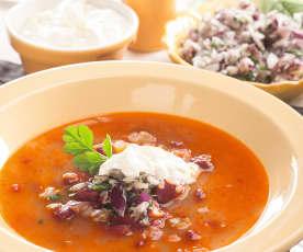 Sopa de judías rojas