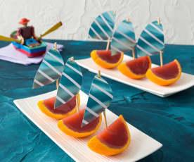 Strawberry jelly boats