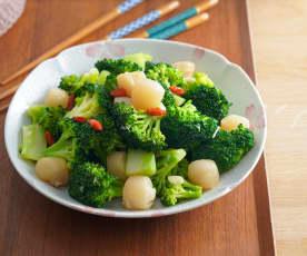 花椰菜炒干貝