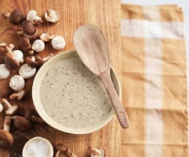 Mushroom and White Wine Cream Sauce