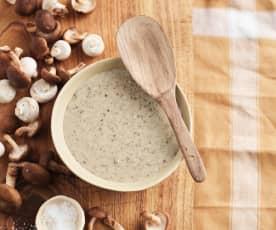 Mushroom and white wine cream sauce