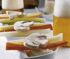 Dip de nata y gorgonzola