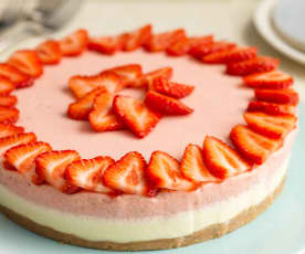 Strawberry and White Chocolate Mousse Dessert