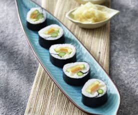 Rotoli di sushi vegetariani