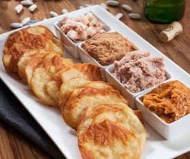 Chips de fabada y sus dips