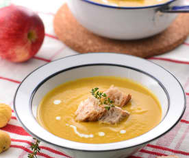 栗子蘋果培根濃湯