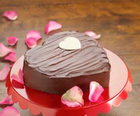 Valentine's Decadent Steamed Chocolate Cake