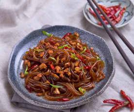 Ma yi shang shu (sweet potato noodles with pork)