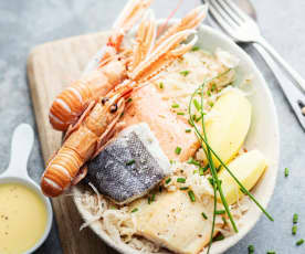 Choucroute de la mer au beurre blanc